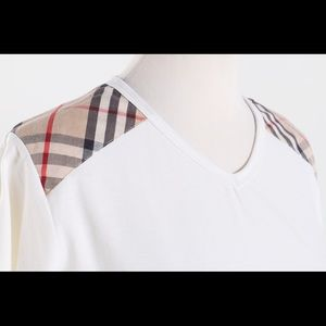Burberry Tops - Burberry Womens V-neck T-Shirt - Authentic!
